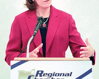 Jennifer Brunner, Ohio's Secretary of State and candidate for the U.S. Senate, will speak at a Regional Chamber luncheon at the Byzantine Centre in Youngstown.