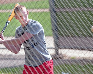 Pitcher/Outfielder, Travis Richey, makes takes some time for batting practice during practice at Springfield High School on Tuesday evening.