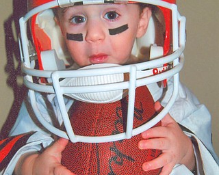 Ready for a weekend of football is NICHOLAS DEPINTO of Streetsboro.