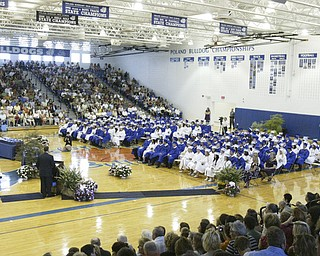 "The Senior Seminary Singers, a Poland HS vocal group, perform "" Until We Sing Again"" during Sunday commencement ceremony."