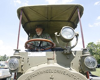 .A 1919 four wheel drive ammo truck - the only one in existence took 9 years to rebuild and is owned and rebuilt by Don Chew of  Brighton Colorado  the MVPA 2009 Transcontinental Motor Convoy arrives in East Palestine  Monday afternoon - robertkyosay
