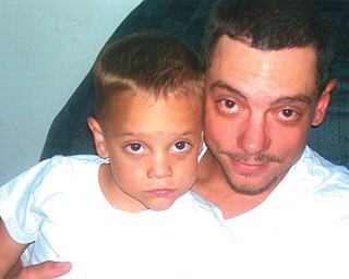 Doug Weimer, 33, and Cody, 3, of Youngstown.