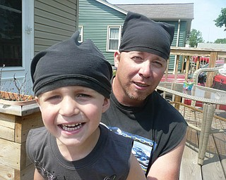 Rod Neider, 40, and Ryan, 3, of Struthers.
