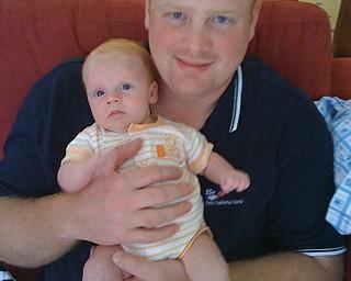 Harry Steele, 28, and Brandon, 6 weeks, of Cortland.