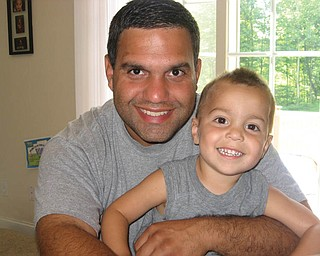 Jeff Navarro, 34, and Dominic, 2 1/2, of Salem.