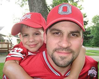 Joe Weimer, 38, and Anthony, 6, of Poland.