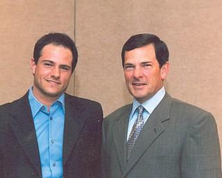 Judge R. Scott Krichbaum, 57, right, of Boardman and Zachary Krichbaum, 29, of St Louis.
