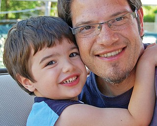 Kevin Dominic, 39, and Vincent, 3, of Youngstown.