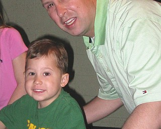 Chris Wills, 36, and Connor, 4, of Canfield.