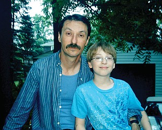 Scott Wolfe, 42, and Nathan, 9, of Youngstown.
