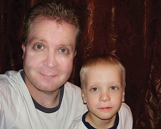 Mike Scott, 35, and Matthew, 2, of Canfield.