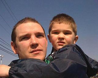 Michael Feltner, 27, and Dustyn, 4 1/2, of Austintown.