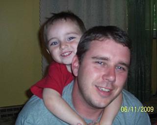 T.J. Stewart, 32, and Aydan, 2, of Bessemer, Pa.