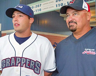 Scrappers Bo Greenwell and his father Mike Greenwell who was a major league player also. wdlewis