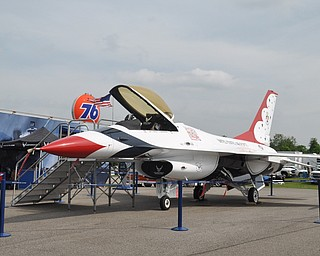 An Air Force fighter jet on display at The Steel Valley Super Nationals at Quaker City Raceway, June 19, 2009.