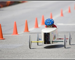 6.20.2009 Lia Brammer races down 5th Ave. during The 2009 Greater Youngstown Area Soap Box Derby on Saturday afternoon. Photo by: Geoffrey Hauschild