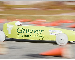 6.20.2009 Joey Puntel races down 5th Ave. during The 2009 Greater Youngstown Area Soap Box Derby on Saturday afternoon. Photo by: Geoffrey Hauschild