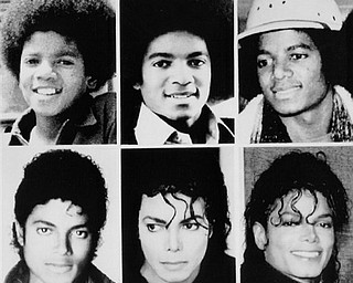 Michael Jackson is seen in file pictures from top left, 1971, 1977, 1979, and bottom left, 1983, 1987, and 1990. Jackson has died in Los Angeles at age 50 on Thursday, June 25, 2009. (AP Photo)