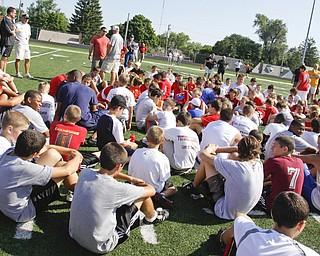Cardinal Mooney Camp of Champions at the football field, Monday June 29, 2009Lisa-Ann Ishihara