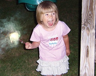 Natalie DeSantis was 3 when she was celebrating the Fourth of July in 2008. She is the daughter of Chris and Chris DeSantis of Poland.