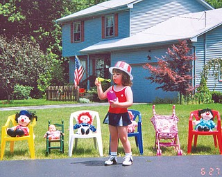 Nicolina Fredrick of Boardman was 2 1/2 when she had her own Fourth of July parade.