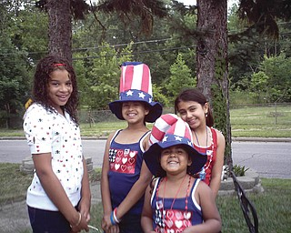 Milly Aponte of Youngstown sent this picture of Yasmeem, 10; Ariel, 14; Mariah, 11; and Alicia, 6, at an annual Fourth of July picnic.