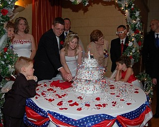 Here's a picture of Amy and Tom Ford on the their wedding day last July 4 at St. Mary's Parish Center in New Castle, Pa.