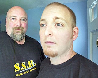 Brothers Jim, left, and Jared Sparks run Sparks Spirit Hunters. They search for ghosts and paranormal activity.