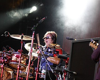 Rikki Rockett performs live at Post Gazette Pavilion in Burgettstown, PA. The venue opened with Cheap Trick and headlined Def Leppard, Friday, July 10, 2009  Lisa-Ann Ishihara