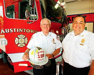 Fire Chief Andy Frost Jr. and Asst. Fire Chief Andy Frost III have worked together for more than 20 years.