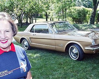 Kathy Miller and her 1964 Mustang.