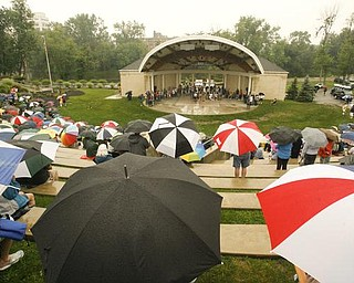 Retirees Unite, Packard hourly retirees group, is meeting to rally the troops against pension cuts- at the Amphitheater in Warren - the pensioners braved the rain to hear from leaders including Jim Graham - John Arbogast etc - robertkyosay
