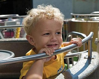 Here's a photo of 2-year-old Alex LaPlante of Poland at the Canfield Fair in