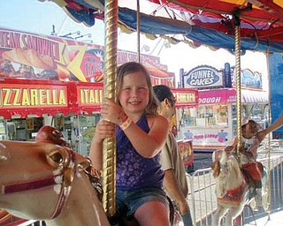 Madalyn Rose Smith of Boardman was at the festival at the Southern Park Mall this summer.