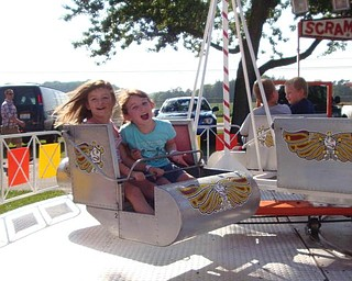 Maddie Moran and her friend, Madison Keich, are at the Canfield Fair.