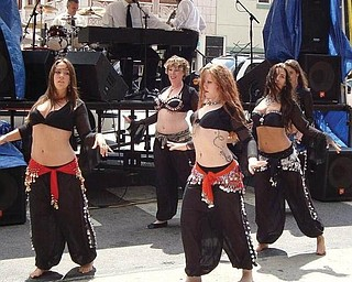 Belly dancers performed at the Pig Iron Fest.