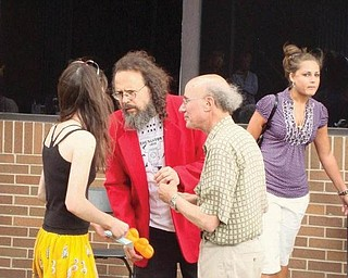 Jim Villani and Dr Ray Beiersdorfer (red coat) are pictured at the Pig Iron Fest.
