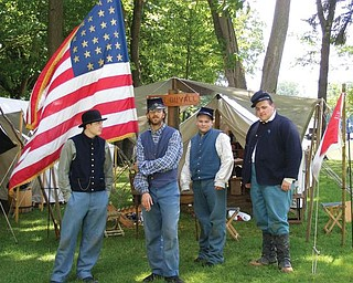 This picture of the Civil War encampment with members of the 61st OVI Company D was taken by Kayla Windsor at the Celebrate Poland Independence Day Celebration in June.