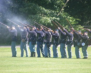 This is a picture of the Civil War reenactment between the 61st OVI Company D and 4th Alabama (taken by David Windsor).