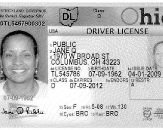 A sample of how the new Ohio driver's licenses for adults will look. The individual's information lines are now numbered to assist law enforcement.
