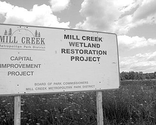 This 48-acre site owned by the Mill Creek MetroParks system is being restored to its original wetland environment.