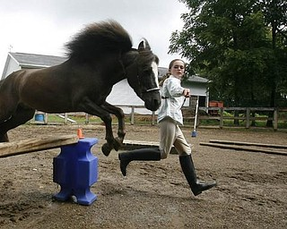 Madelyn with her newest project -teaching it to jump - robertkyosay