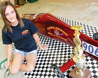 Jamie Berndt of Canfield set the new world record in the ultimate speed division during Saturday's Soapbox Derby Championship in Akron.Wednesday July 29, 2009Lisa-Ann Ishihara