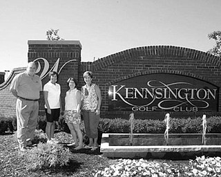 Special to The Vindicator PERFECT SETTING: Prepared to welcome golfers to the Kennsington Golf Club for the Paul Baringer Golf Classic on Sept. 14 are, from left, Jeff Myers, Kennsington golf coordinator; Leanne Butta, CCCN president; Melinda McGowan; and Claire Glove, family liaison coordinator.