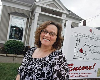 Jacqueline Stout is opening Jacqueline's Bridal    on the corners of McKinley Way and Main Street in Poland in Poland -