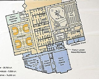 UPGRADE PLAN: The addition will be to the south and east of the current structure, which is 74,000 square feet.
