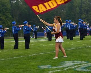 Senior Brittany Haynes waves the South Range flag high!