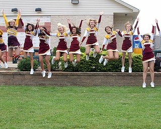 The South Range Cheerleaders are jumping for joy over the start of football season!