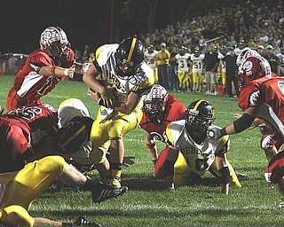 CRESTVIEW - COLUMBIANA - (6) Carter Hill breaks free for a touch down Friday night. - Special to The Vindicator/Nick Mays