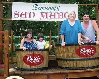 The Andrew Murzda Jr. family of Hubbard enjoyed vacationing at Bush Gardens in Florida in July.